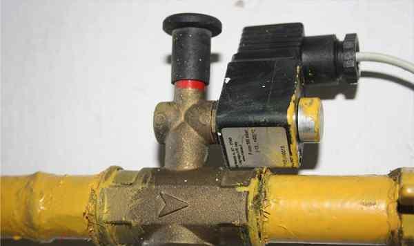 Отсечной клапан газовой трубы
